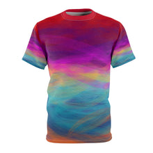 "Load image into Gallery viewer, ""Postcard from a Random Gas Giant"" Unisex AOP Cut & Sew Tee"