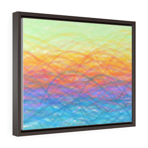 GenArt More Turbulent Serenity Horizontal Framed Premium Gallery Wrap Canvas