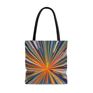 Starburst Blue AOP Tote Bag