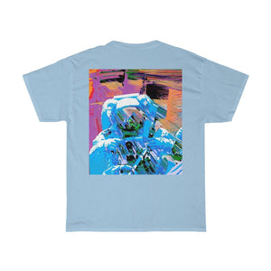 Astro Three Front and Back Printed Unisex Heavy Cotton Tee