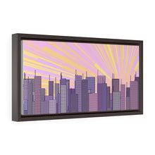 Load image into Gallery viewer, GenArt Urban Sunrise 1 Horizontal Framed Premium Gallery Wrap Canvas