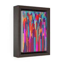 Load image into Gallery viewer, GenArt Streaking Swirly 1. Vertical Framed Premium Gallery Wrap Canvas