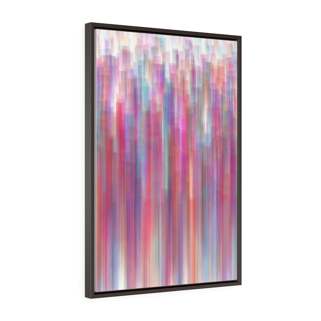 GenArt Streaking Subtly 1. Vertical Framed Premium Gallery Wrap Canvas