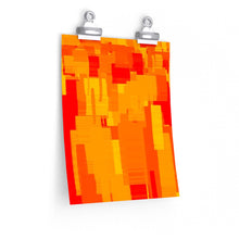 "Load image into Gallery viewer, GenArt ""Rectangles on Fire"" Premium Matte vertical posters"