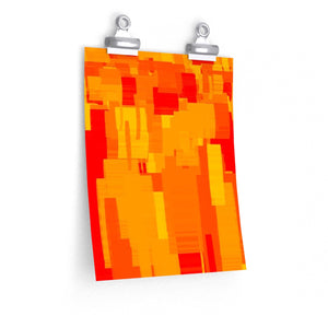 "GenArt ""Rectangles on Fire"" Premium Matte vertical posters"