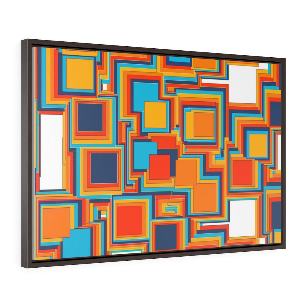 GenArt Mom and Pop Art 1Horizontal Framed Premium Gallery Wrap Canvas