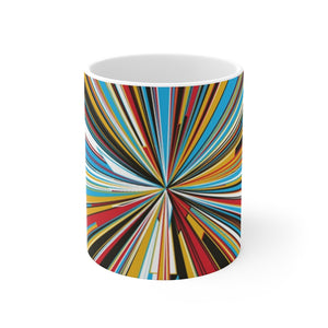Mondrian Stripes Mug 11oz