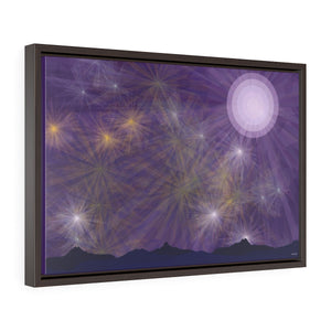 GenArt It's a Purple Starry Night Horizontal Framed Premium Gallery Wrap Canvas