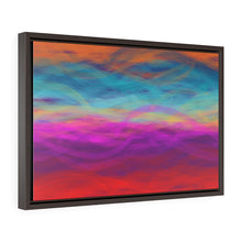 Load image into Gallery viewer, GenArt Postcard from a Random Gas Giant. Horizontal Framed Premium Gallery Wrap Canvas