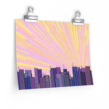"Load image into Gallery viewer, GenArt ""Urban Sunrise 1."" Premium Matte horizontal posters"
