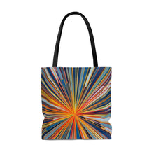 Load image into Gallery viewer, Starburst Blue AOP Tote Bag