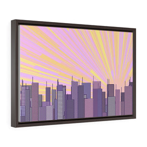 GenArt Urban Sunrise 1 Horizontal Framed Premium Gallery Wrap Canvas