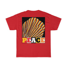 "Load image into Gallery viewer, ""Peace Blossom 2"" Front and Back Printed Unisex Heavy Cotton Tee"