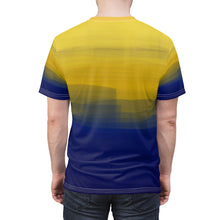 "Load image into Gallery viewer, ""Golden Sunrise"" Unisex AOP Cut & Sew Tee"