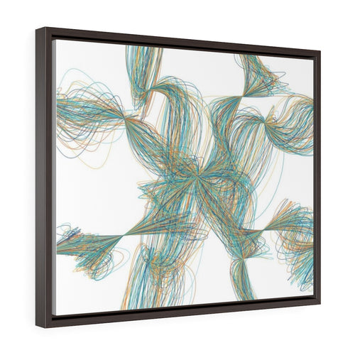 GenArt Filamental 1. Horizontal Framed Premium Gallery Wrap Canvas