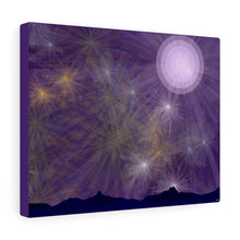 Load image into Gallery viewer, GenArt It's a Purple Starry Night Canvas Gallery Wraps