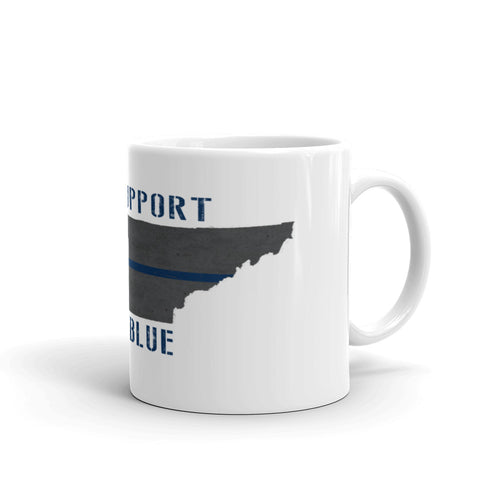 We Support Our Blue Mug