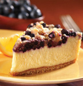 Lemon Blueberry Crumble Cheesecake