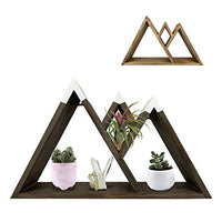 Dash Home Majestic Floating Mountain Shelf - Cabin Decor, Triangle Shelf, Mountain Wall Art, Floating Farmhouse Shelf - Bedroom Decor, Living Room Decor & Rustic Decor Aesthetic Shelves for Wall