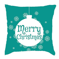 Hohaski Merry Christmas Short Plush Pillowcase Sofa Pad Set Home Decoration 18x18 Inch, Christmas Ornaments Advent Calendar Pillow Covers Garland Tree Skirt Gift Bags DIY