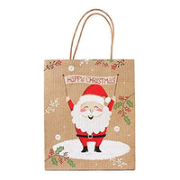 Hohaski Merry Christmas Kraft Paper Bag Gift Bags Candy Bag Christmas Party, Christmas Ornaments Advent Calendar Pillow Covers Garland Tree Skirt Gift Bags DIY (D, L)