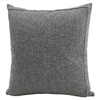 Jepeak Burlap Linen Throw Pillow Cover Cushion Case, Farmhouse Modern Decorative Solid Square Thickened Pillow Case for Sofa Couch (22 x 22 inches, Beige+Khaki Threads)