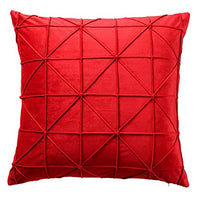 JWH Handmade Geometric Accent Pillow Cases Velvet Cushion Covers Decorative Pillowcases Luxury Shell Home Bed Living Room Decoration Sheets 14 x 24 Inch Chocolate