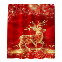 Hohaski Christmas Elk Print Toilet Bathroom Mat and Shower Curtain Four-Piece Set, Christmas Ornaments Advent Calendar Pillow Covers Garland Tree Skirt Gift Bags DIY