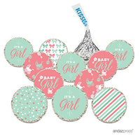 Andaz Press Chocolate Drop Labels Trio, Fits Hershey's Kisses, Ultimate Boy Baby Shower Collection, Burlap, 216-Pack