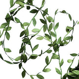 252 Ft Artificial Vines, Artificial Eucalyptus Leaf Garland DIY Wild Jungle Decorative Botanical Greenery for Baby Shower Home Wall Garden Wedding Party Wreaths (252 ft)