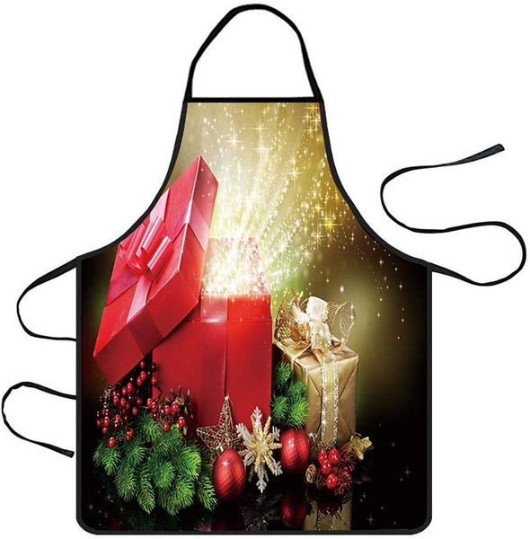 Hohaski Christmas Decoration Waterproof Apron Kitchen Aprons Dinner Party Apron, Christmas Ornaments Advent Calendar Pillow Covers Garland Tree Skirt Gift Bags DIY