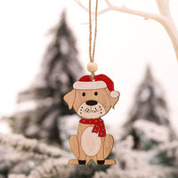 Hohaski 1PC Wooden Hanging Christmas Tree Cabin Elk Car Ornament Xmas Party Home Decor, Christmas Ornaments Advent Calendar Pillow Covers Garland Tree Skirt Gift Bags DIY