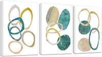 Rtriel Marble Abstract Canvas Wall Art Minimalist Modern Prints Circle Pictures for Living Room Bedroom Home Decor 12 x 16 Inches 3 Pieces