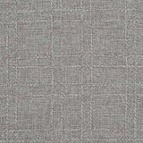 Deconovo Decorative Checkered Faux Linen Burlap Square Table Cloth Waterproof Wrinkle Resistant Tablecloth for Restaurant 54x54 Inches Gray