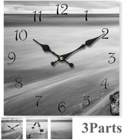 G-LEAF Wall Clock Decor Silent Non-Ticking Quartz Battery Operated Glass Clocks Easy to Read for Home Living Room Bedroom Office School Decoration Clock