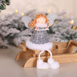 Hohaski Christmas Golden and Silver Doll Old Angel Figurine Ornaments, Christmas Ornaments Advent Calendar Pillow Covers Garland Tree Skirt Gift Bags DIY