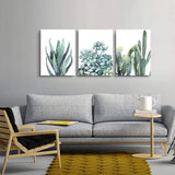 "Canvas Wall Art for living room bathroom Wall Decor for bedroom kitchen artwork Canvas Prints green plant flowers painting 12"" x 16"" 3 Pieces Modern framed office Home decorations family picture"