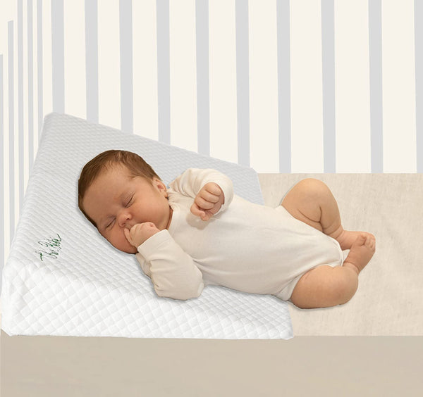Cher Bébé Crib Wedge for Reflux & Colic | High Incline and Foldable | Cotton & Waterproof Covers | Baby Sleep Positioner for Over or Under The Mattress | Newborn's Sleep Solution (Standard, 3.25 in)