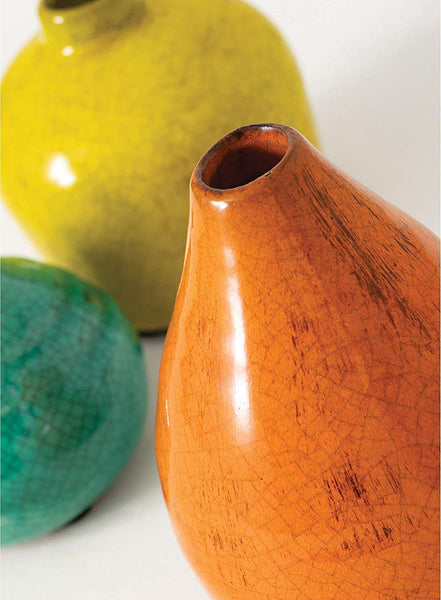 Sullivans Small Ceramic Vase Set, Various Sizes, Set of 3 (CM2219)