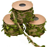 Timoo Leaf Garland, 3 Rolls Burlap Vine Greenery for Safari Baby Shower, Wreath Wedding and Home Office Decoration (49.2 Feet)