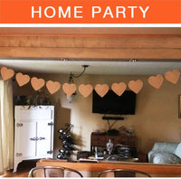 ThxToms (15 Pcs) Burlap Banner, DIY Party Decor for Birthday, Wedding, Baby Shower and Graduation, 14.6ft