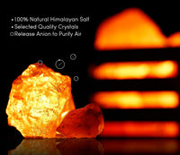 TORCHSTAR 2 Pack Dimmable Himalayan Crystal Salt Lamp with Wooden Basket, UL-Listed Power Line & Socket, for Ambiance Lighting, Decoration, Yoga, Purifying Air, 4.3x3.94x4.1inch(4 Bulbs Included)