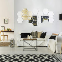 15 Pieces Removable Acrylic Mirror Setting Wall Sticker Decal for Home Living Room Bedroom Decor (Style 4, 15 Pieces)