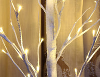 Bolylight LED Birch Tree 4ft 48L LED Christmas Decorations Lighted Tree Decor for Bedroom/Party/Wedding/Office/Home Outdoor and Indoor Use Warm White