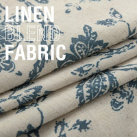 "jinchan Table Cloth Linen Textured Scroll Patten Triangular Decorative Burlap Tablecovers Rustic Floral Design Handcrafted Flax Tablecloths(1 Panel 13"" W x 72"" L Teal)"