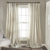 "Lush Decor Rosalie Window Curtains Panel Set for Living, Dining Room, Bedroom (Pair), 95"" x 54"", Ivory"