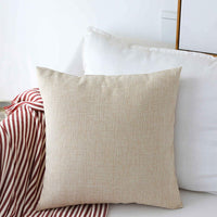 Home Brilliant Decoration Linen Burlap Decor Square Throw Cushion Cover Pillow Sham for Living Room, Light Linen, 18x18 Inches(45cm)