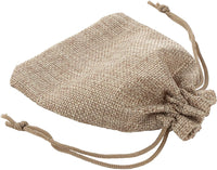 Drawstring Gift Bags - 100-Pack Jewelry Pouch Gift Bags, Burlap Gift Bags, for Jewelry, Accessory, Candy, Wedding, Baby Shower, Birthday Party Favors, DIY Art Craft, Natural Brown, 5.25 x 3.8 Inches