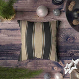 Musesh Pack of 2 dark brown and tan stripes print Cushions Case Throw Pillow Cover For Sofa Home Decorative Pillowslip Gift Ideas Household Pillowcase Zippered Pillow Covers 20X20Inch