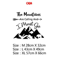 The mountains Wall Decals Home Decor Living Room Children Decoration Accessories